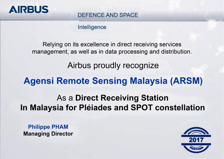 Sijil Direct Receiving Station (DRS) in Malaysia for Pleiades and SPOT constellation