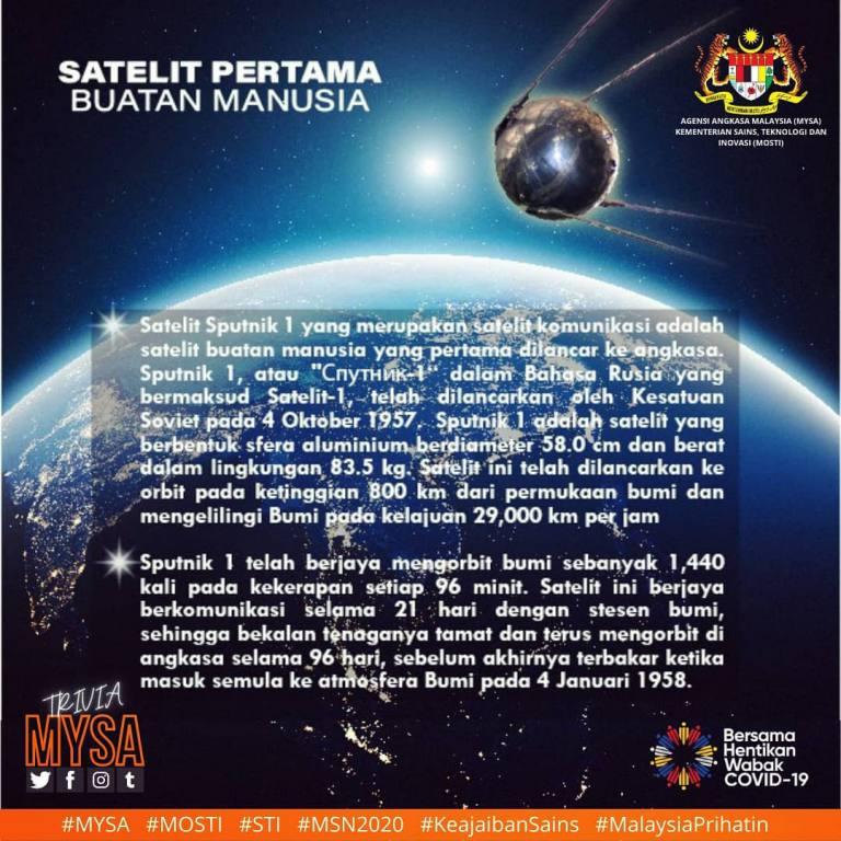 Satelit Pertama Buatan Manusia