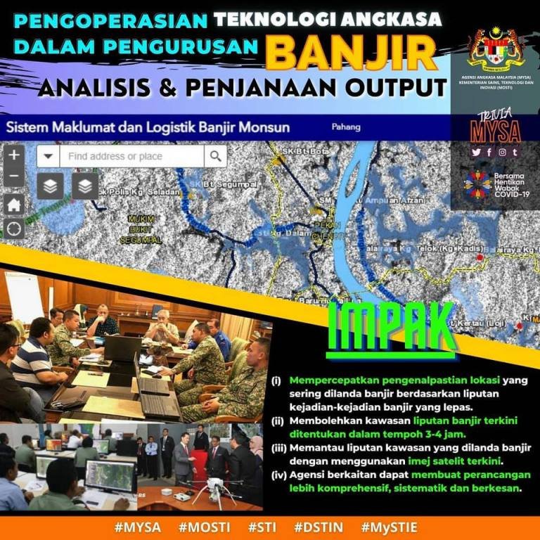 Pengoperasian Teknologi Angkasa Dalam Pengurusan Banjir: Analisis & Penjanaan Output