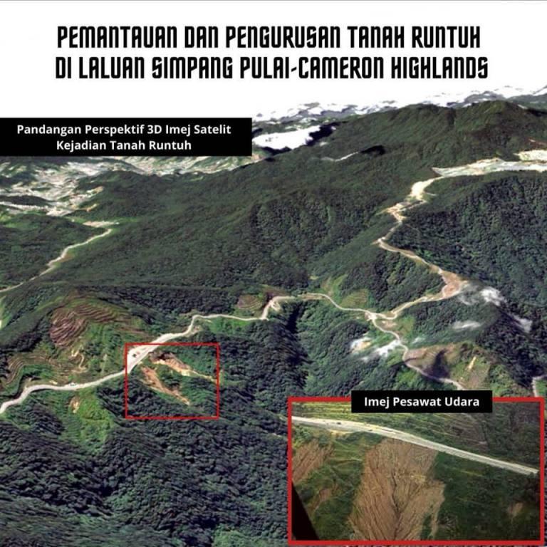 Pemantauan dan Pengurusan Tanah Runtuh di Laluan Simpang Pulai-Cameron Highlands