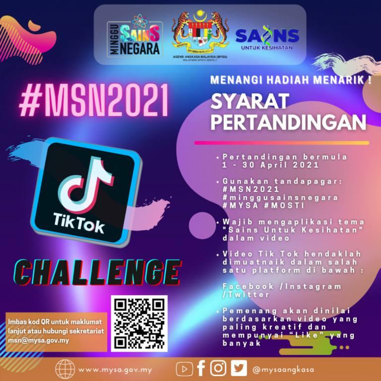 Poster tiktok MSN 2021