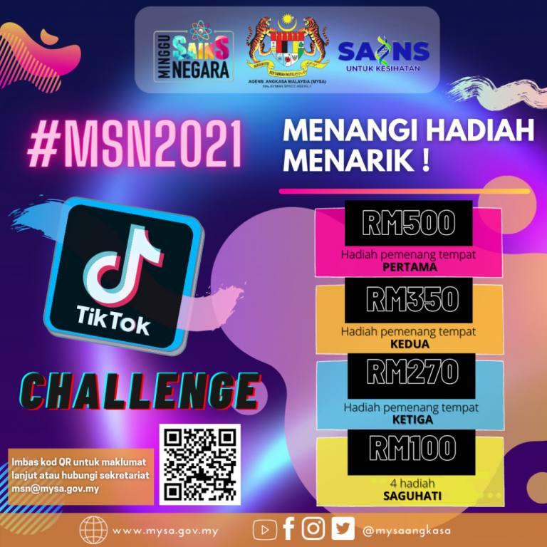 Poster Hadiah TikTok MSN 2021