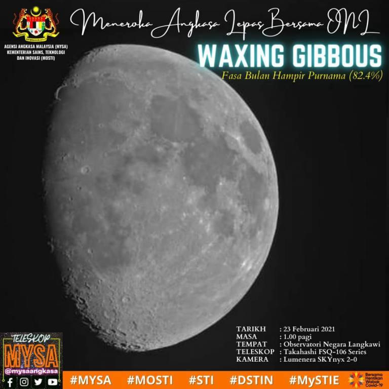 WAXING GIBBOUS atau Fasa Bulan Hampir Purnama