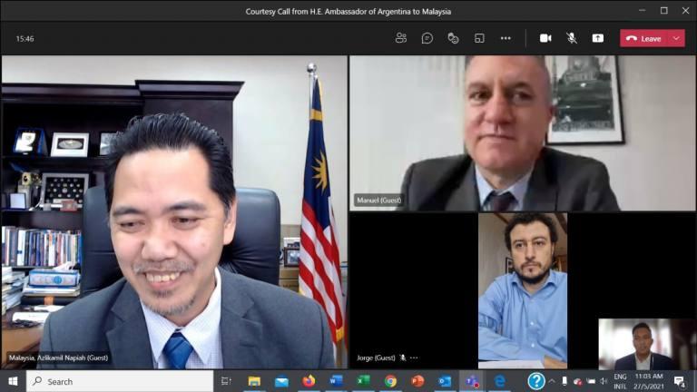 Kunjungan Hormat Secara Dalam Talian oleh Duta Besar Argentina ke Malaysia