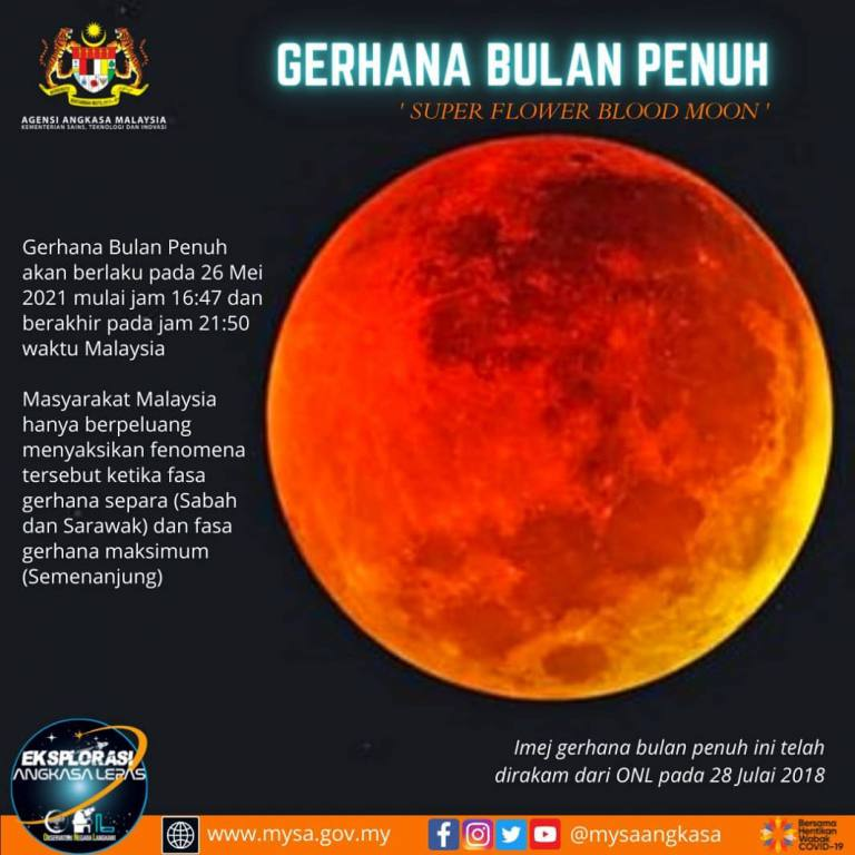 Gerhana Bulan Penuh (Super Flower Blood Moon)