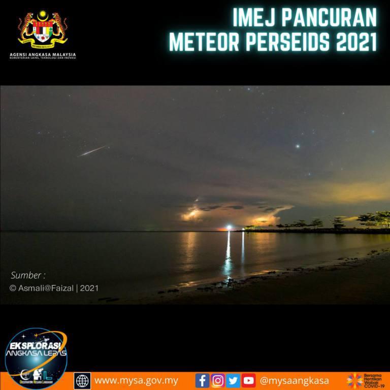 Imej Pancuran Meteor Perseids