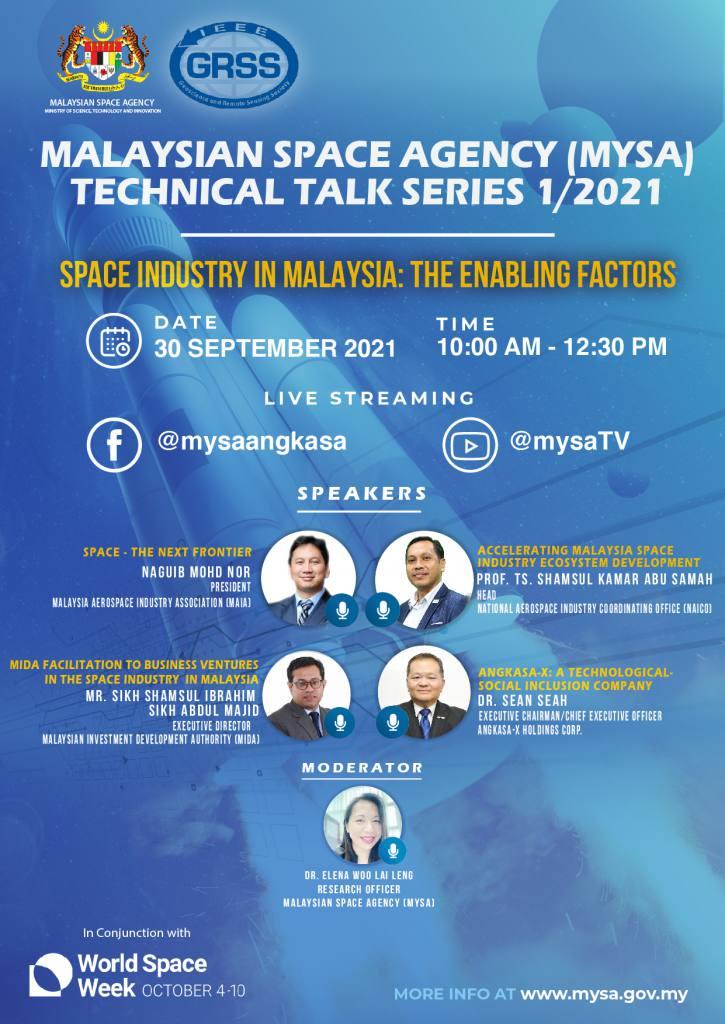 Poster Technical Talk MYSA Series 1/2021