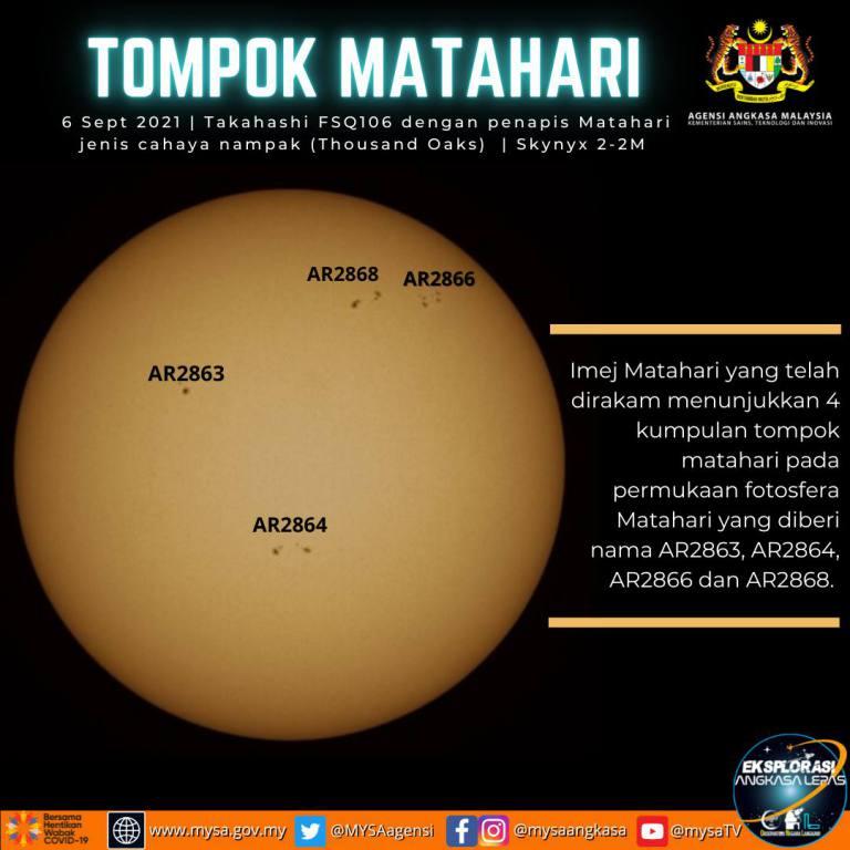 TOMPOK MATAHARI – AR2863, AR2864, AR2866 & AR2868