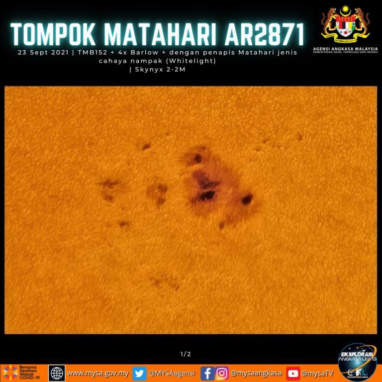 Tompok Matahari AR2871